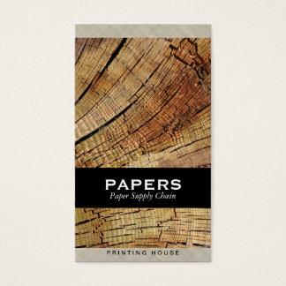 Tissu texturisé avec la coupe en bois cartes de visite