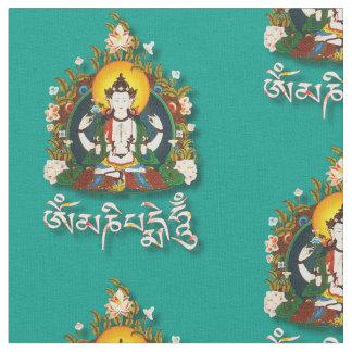 Tissu Tibétain de bourdonnement de Bouddha Amitabha OM