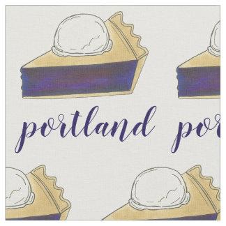 Tissu Tranche de tarte de baie de Portland OU de