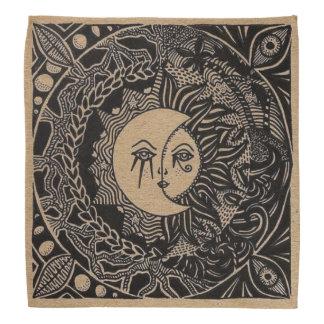 Tissu tribal de tarot de ciel bandana