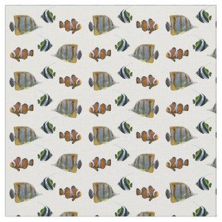 Tissu tropical de frénésie de poissons (choisissez