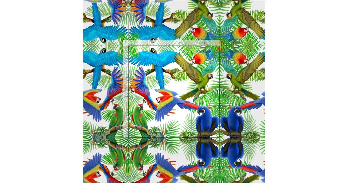 tissu tropical de jungle de perroquet d 39 ara. Black Bedroom Furniture Sets. Home Design Ideas