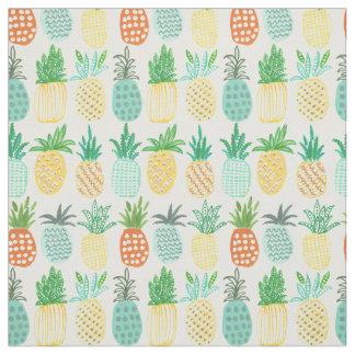 Tissu tropical de l'été | de l'ananas |