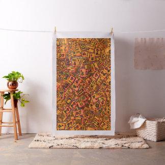 Tissu Tuiles d'heure-milliampère Jongg dans l'orange