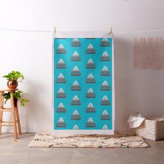 Tissu Turquoise fraîche de motif de navigation de bateau