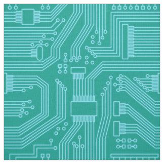 Tissu Turquoise ID245 de motif de carte