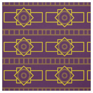 Tissu Type de Deco Gold-Aubergine