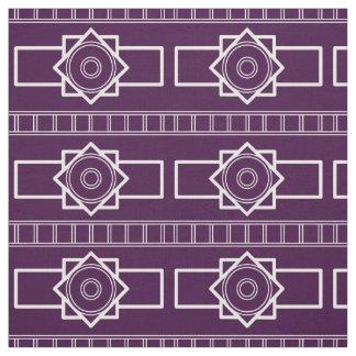 Tissu Type de Deco Weiß-Aubergine