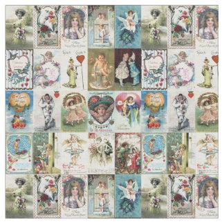 Tissu Valentine vintage