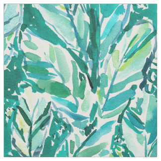 Tissu Vert de JUNGLE de FEUILLE de BANANE tropical