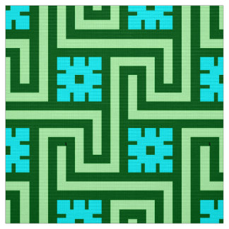 Tissu Vert grec de clé, de turquoise et de jade de Deco
