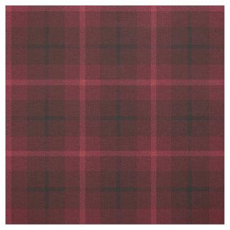 Tissu Vin rouge-foncé, plaid noir/blanc de prune rouge,