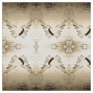 Tissu vintage de coeur et d'ailes