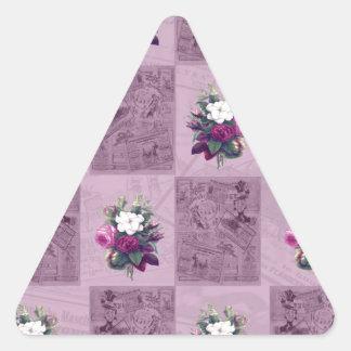 Tissu vintage sticker triangulaire