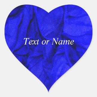 tissus de pli, bleus autocollant en cœur