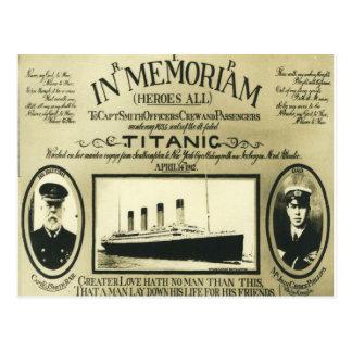 Titanic en carte postale de Memoriam