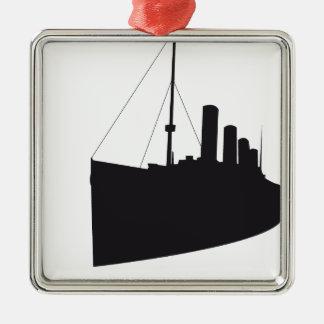 titanic ombre ornement carré argenté