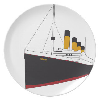 titanic original assiettes en mélamine