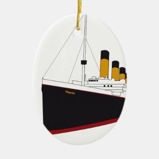 titanic original ornement ovale en céramique