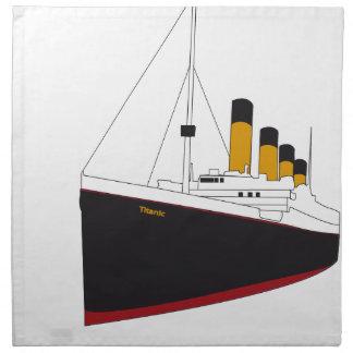 titanic original serviettes en tissus