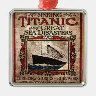 Titanic Ornement Carré Argenté