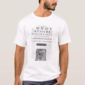 """Titlepage de """"Nouve Musiche"""" par Giulio Caccini T-shirt"""