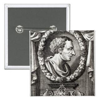 Titus Livius connu sous le nom de Livy Badge Carré 5 Cm