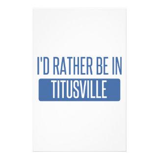 Titusville Papiers À Lettres