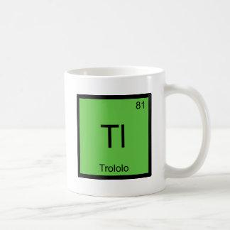 Tl - T-shirt de Meme de symbole d'élément de Mug Blanc