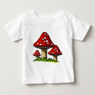 Toadtstools rouge, champignon : Art à main levée T-shirt Pour Bébé