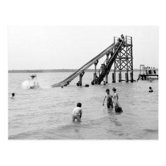 Toboggan de l'eau, île de Bois Blanc, MI 1903 Cartes Postales