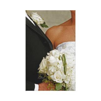 """Toile 11"""" x 14"""" mariage de marié de jeune mariée de"""