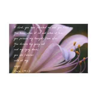 Toile 139:1 de psaume - lis de 3 lilas