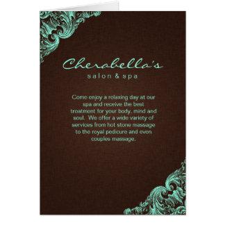 Toile 2 de Brown de menthe de brochure de salon de Carte De Vœux