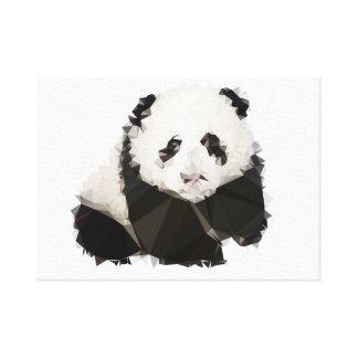 Toile 30.48x30.48cm, 3.81cm, Panda Low Poly