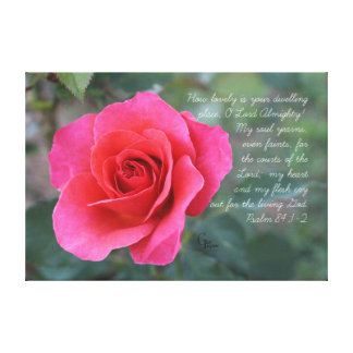 Toile 84:1 de psaume - rose de corail du rose 2