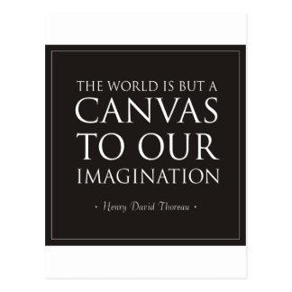 Toile à notre imagination carte postale