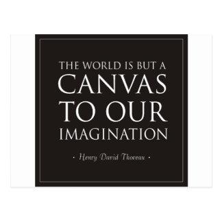 Toile à notre imagination cartes postales