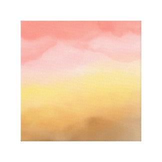 Toile Abrégé sur brun rose désert d'aquarelle d'ombre de