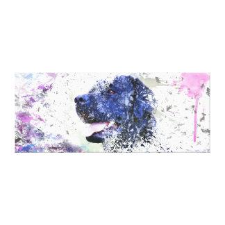 Toile Abrégé sur noir laboratoire peignant le chien de