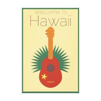 Toile Accueil à l'ukulélé d'Hawaï rétro