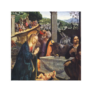 """Toile """"Adoration de peinture des bergers"""" (1485 A.D.)"""