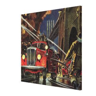 Toile Affaires vintages, sapeurs-pompiers de pompiers de