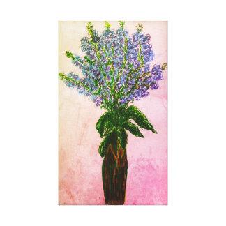 Toile Affichage floral