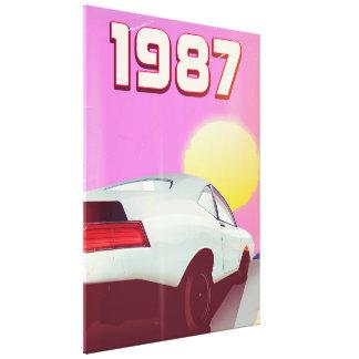 Toile affiche 1987 sportscar