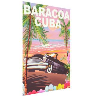 Toile Affiche automatique de voyage de Baracoa Cuba