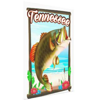 Toile Affiche de pêche du Tennessee