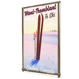 Toile Affiche de ski de Mont-Tremblant Québec