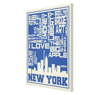 Toile Affiche de typographie de New York City