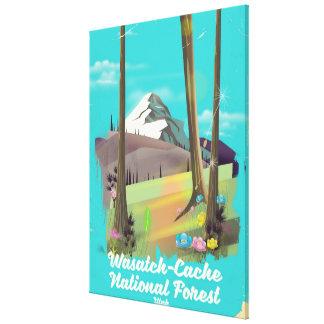 Toile Affiche de vacances de l'Utah de réserve
